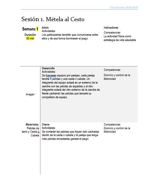 Planeacion Club EDUCACIÓN FÍSICA01