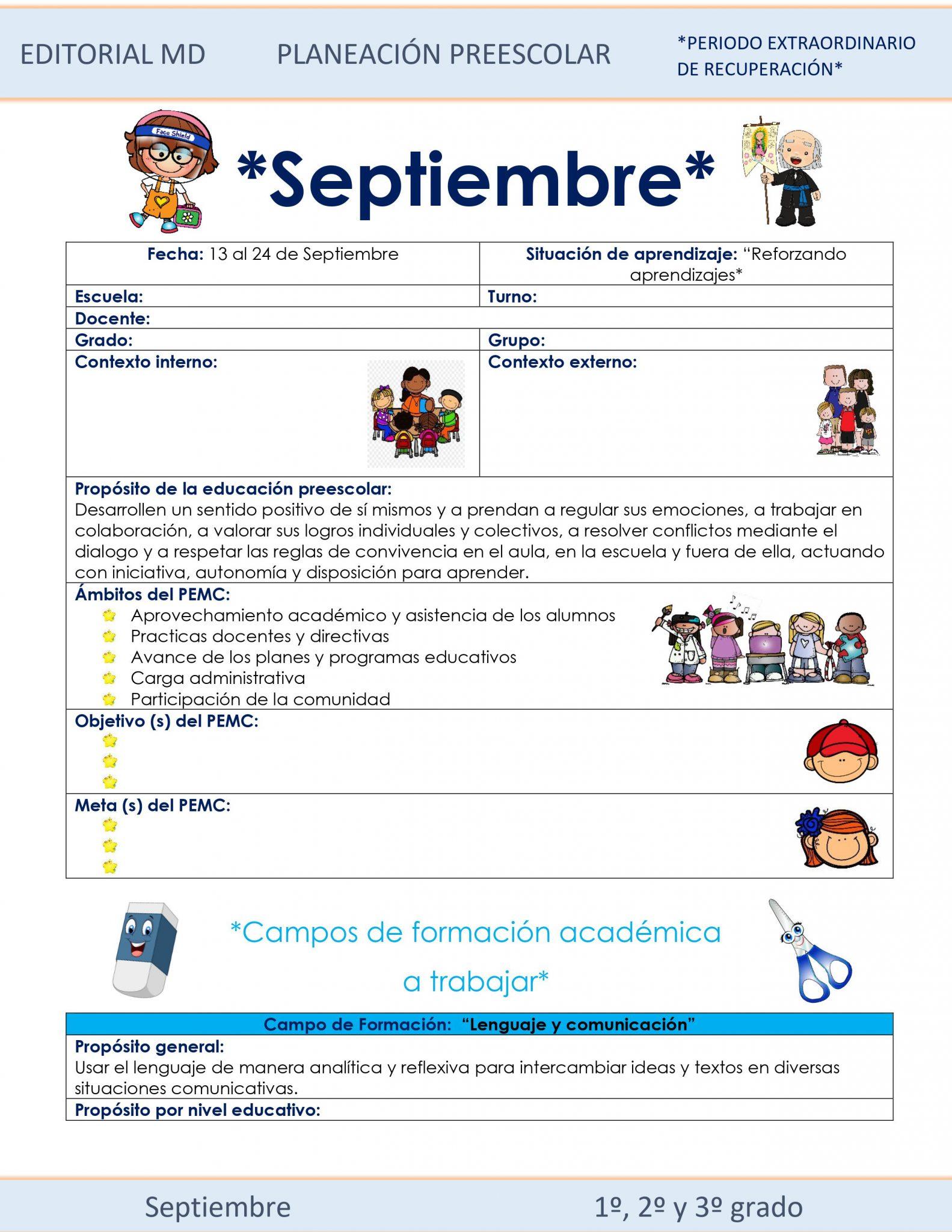 Planeación Híbrida de Preescolar (del 13 al 24 de septiembre) 01