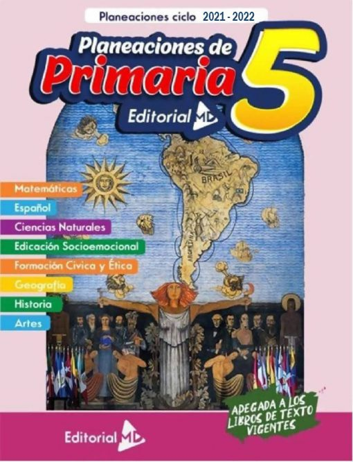 Planeacion anual primaria 5° grado (Todo el Ciclo Escolar) 2021-2022