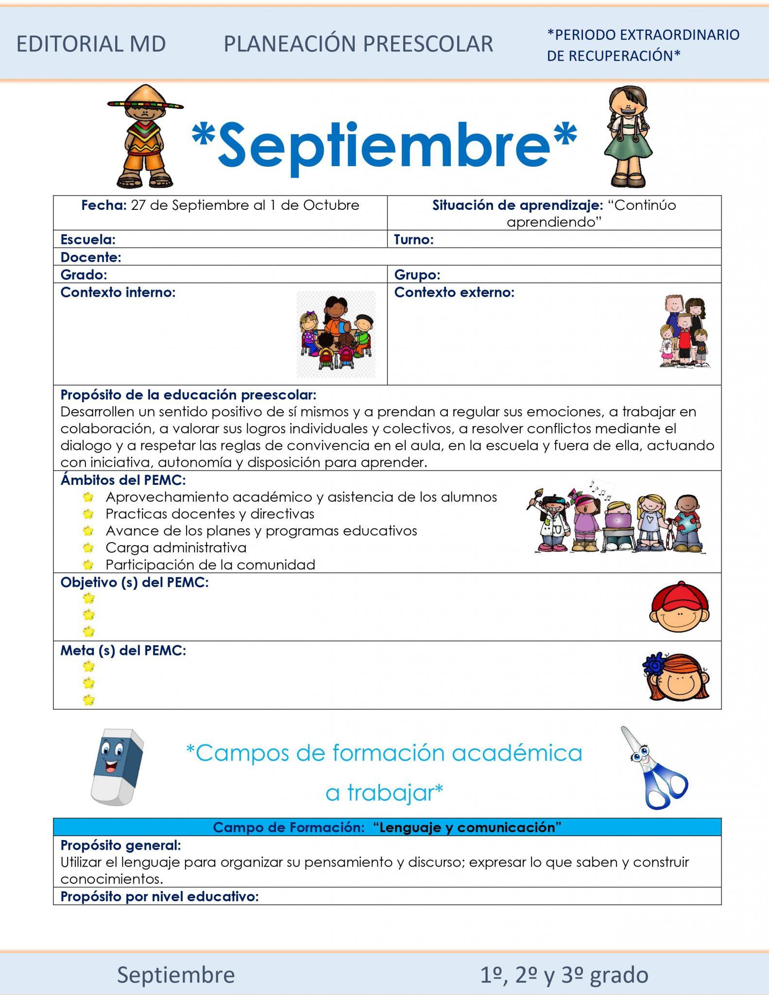 Planeación de Preescolar Híbrida del 27 de septiembre al 1 de octubre 2021 01