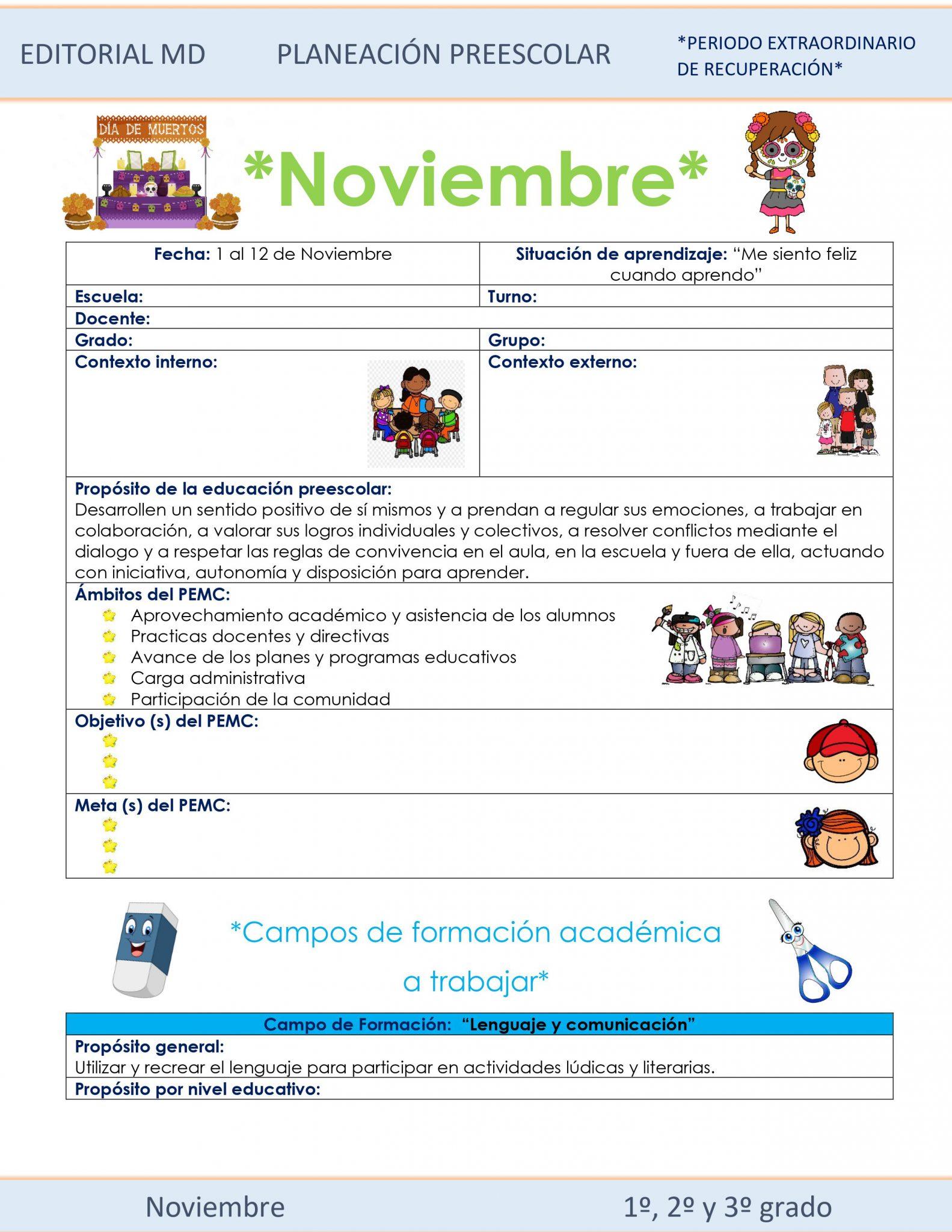 Planeación de preescolar híbrida (Noviembre) 01