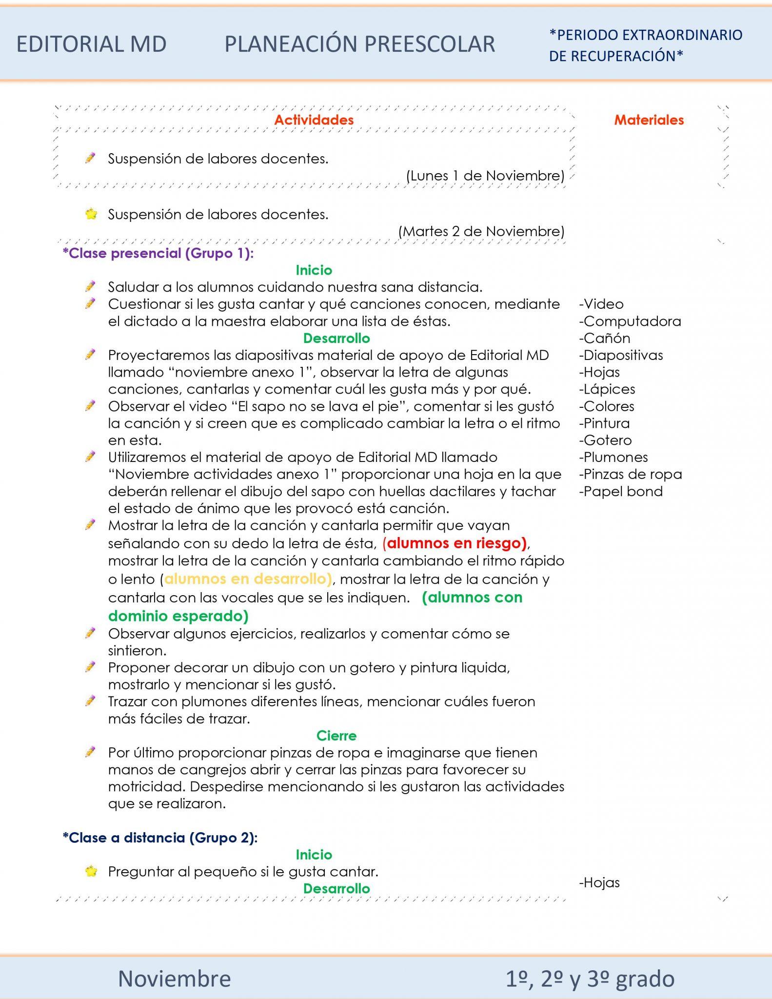Planeación de preescolar híbrida (Noviembre) 02