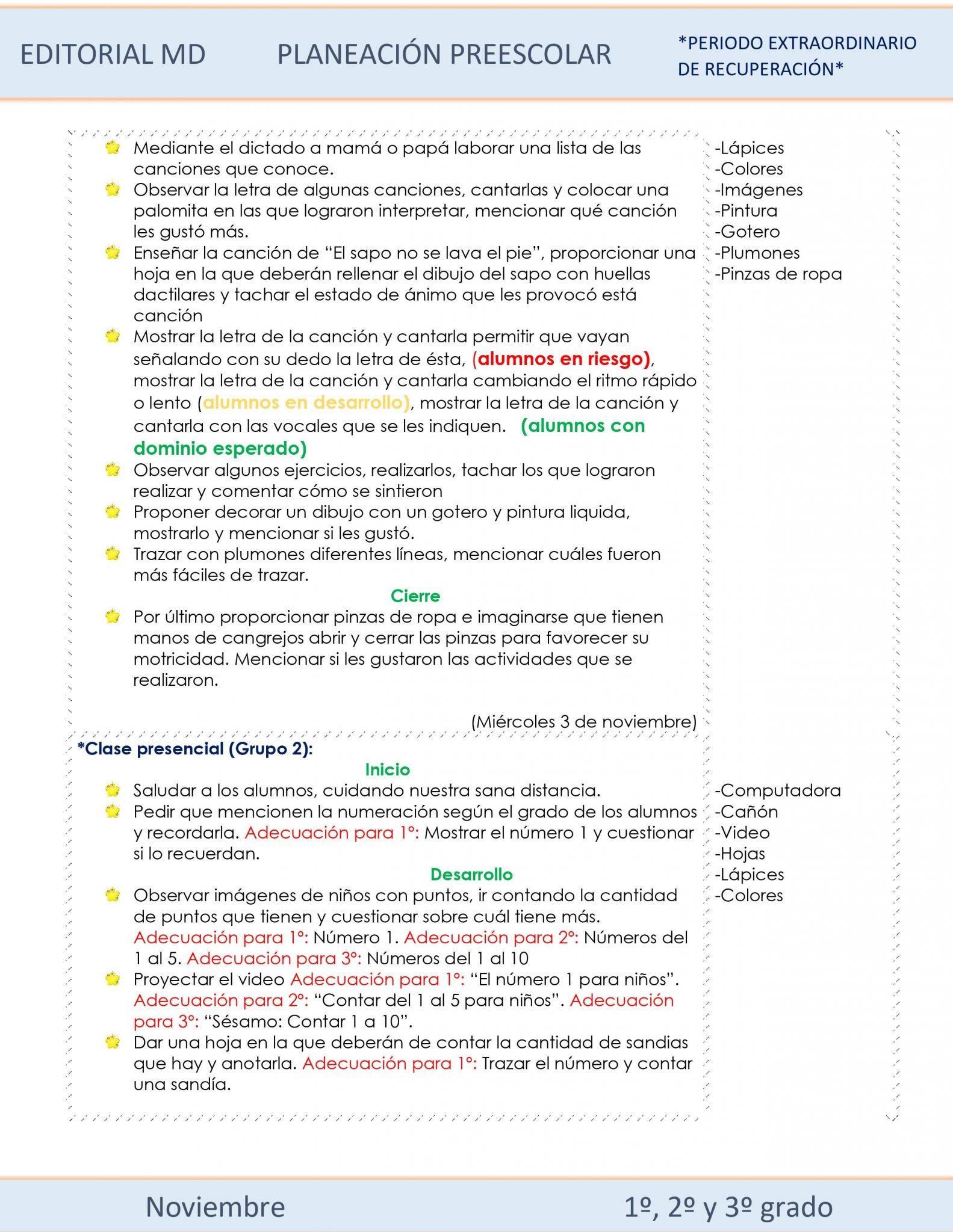 Planeación de preescolar híbrida (Noviembre) 03