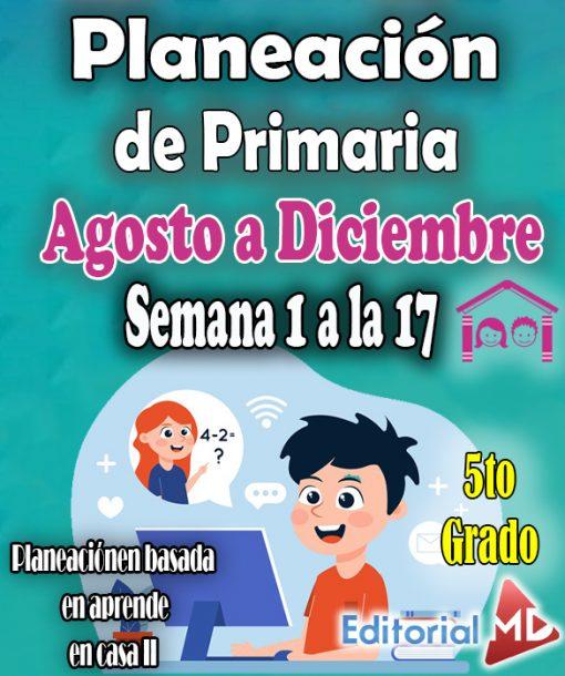 Planeacion de primaria 5to grado de la semana 1 a la 17 aprende