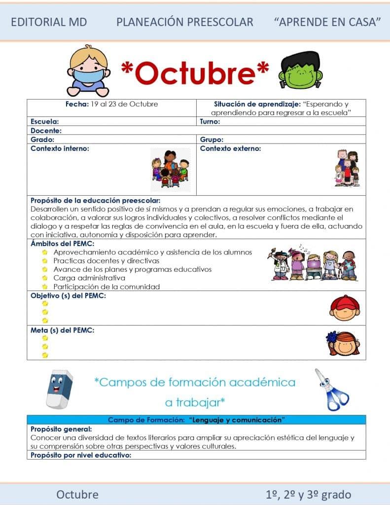 Ejemplo planeación preescolar semana 9