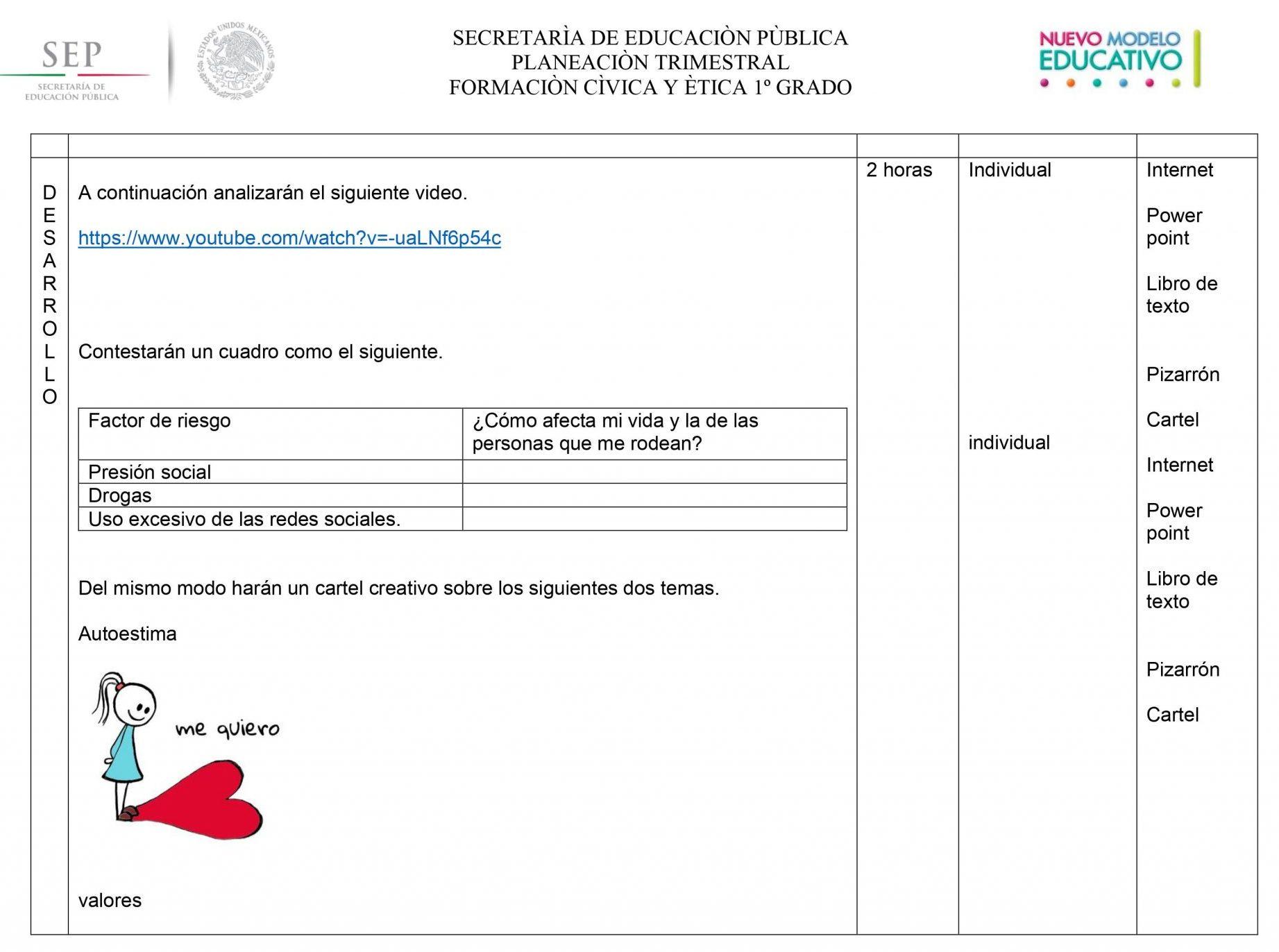 Planeaciones Formacion Civica y Etica 1 Secundaria (Nuevo Modelo Educativo) 03