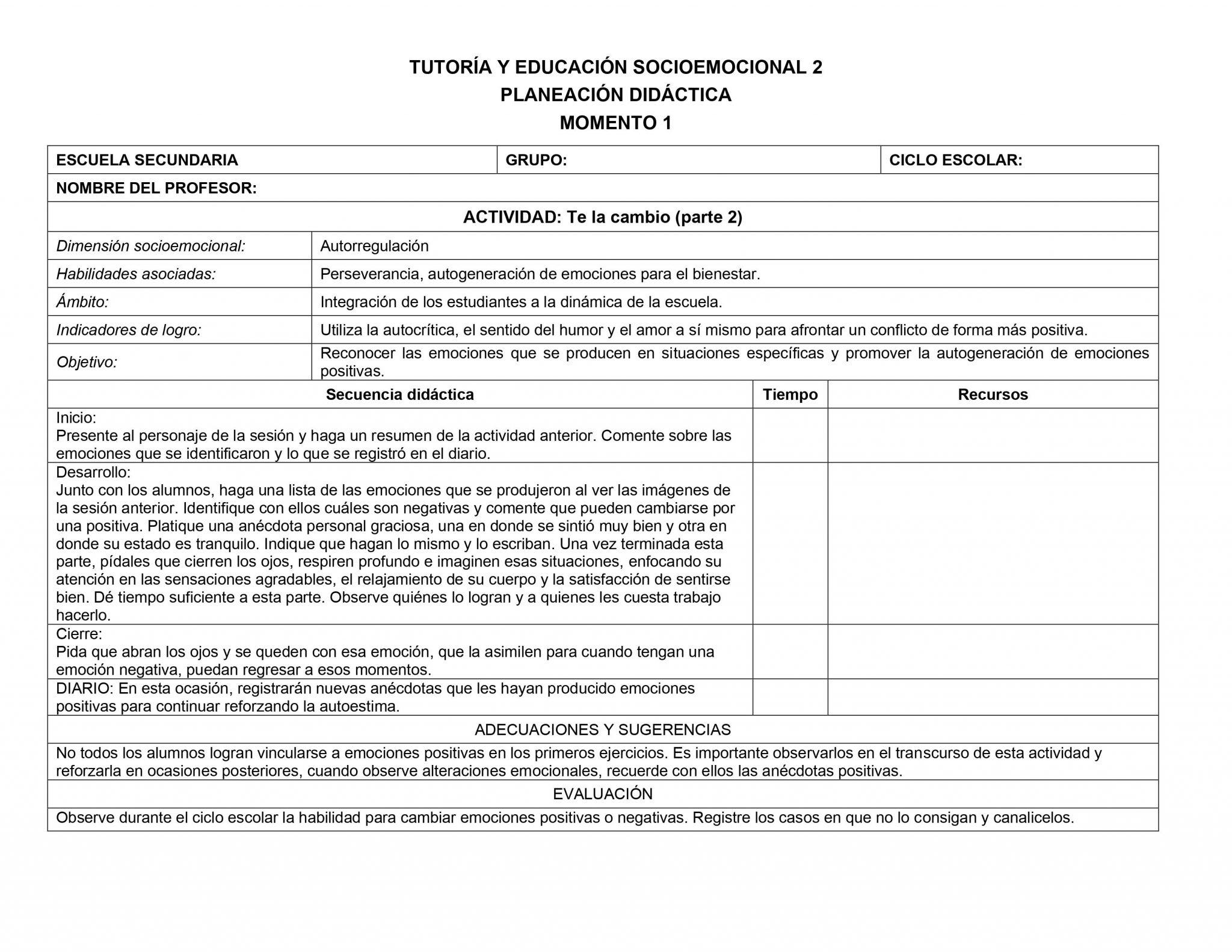 Planeaciones Tutoria Socioemocional 2 Secundaria 1er Trimestre 02