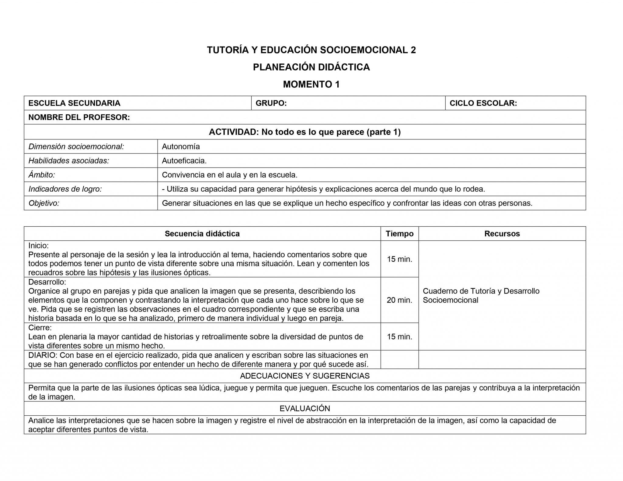 Planeaciones Tutoria Socioemocional 2 Secundaria 1er Trimestre 04