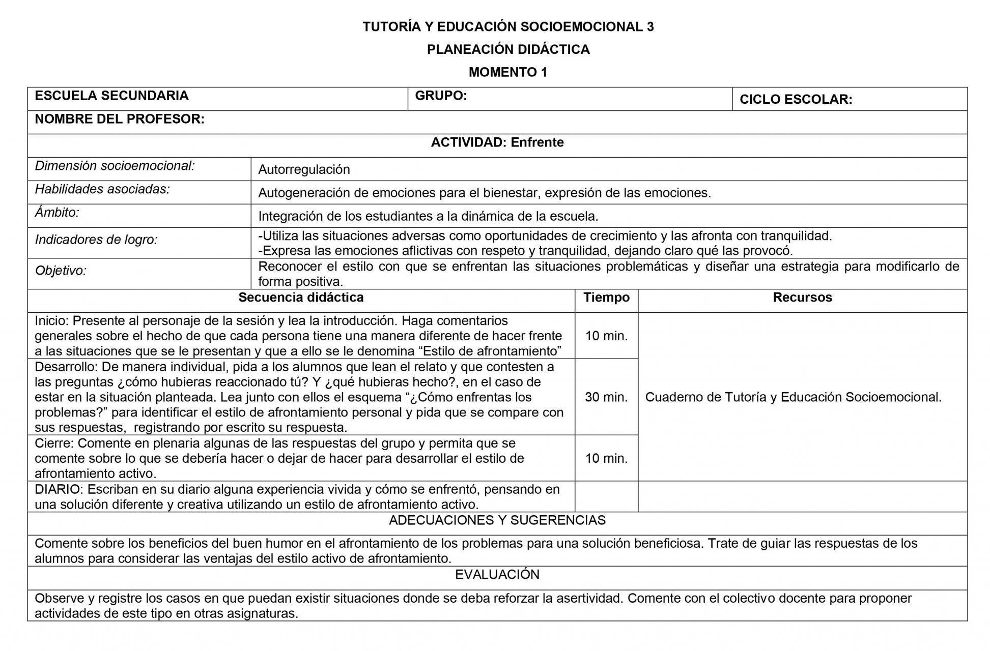 Planeaciones Tutoria Socioemocional 3 Secundaria 1er Trimestre 01