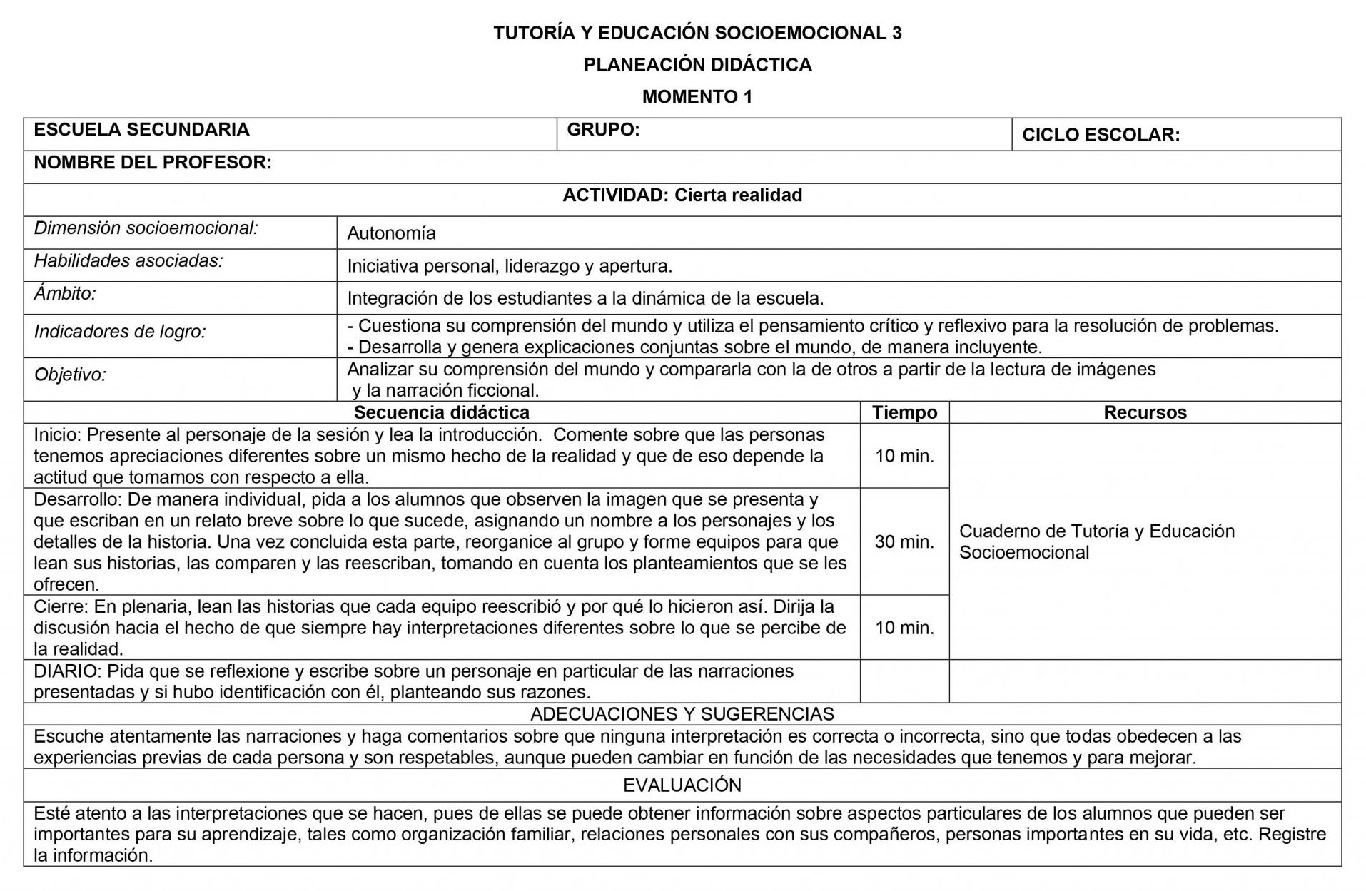Planeaciones Tutoria Socioemocional 3 Secundaria 1er Trimestre 02