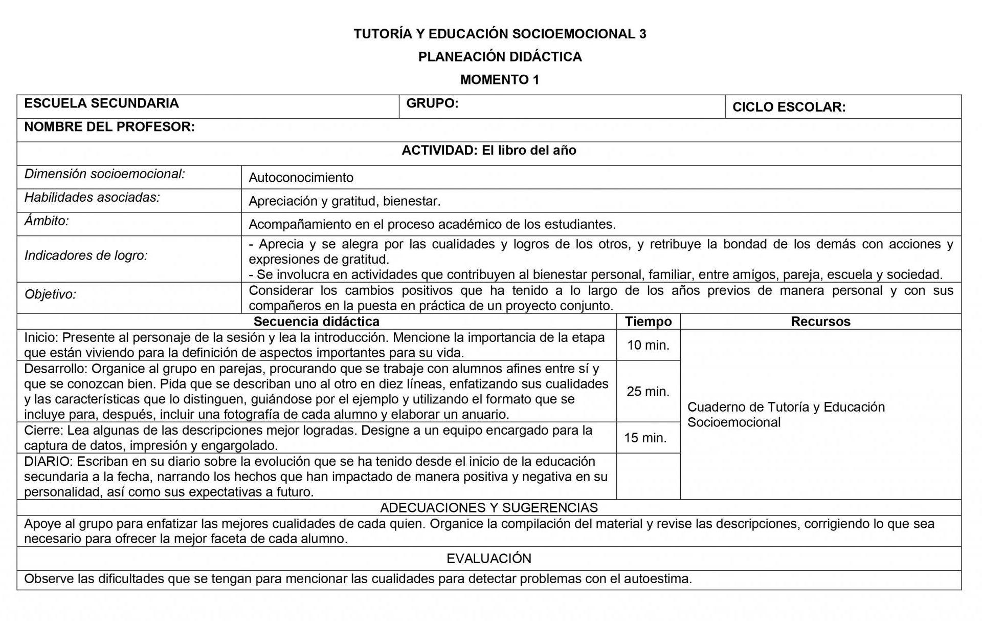 Planeaciones Tutoria Socioemocional 3 Secundaria 1er Trimestre 03