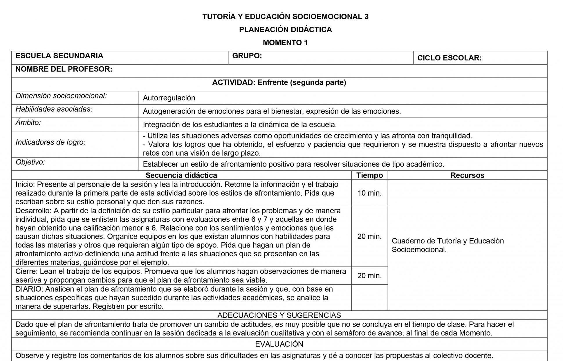 Planeaciones Tutoria Socioemocional 3 Secundaria 1er Trimestre 04