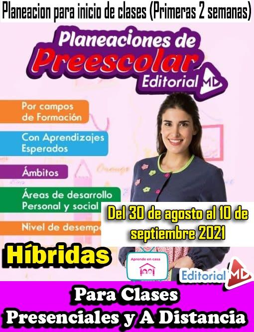 Planeaciones preescolar del 30 de agosto al 10 de septiembre