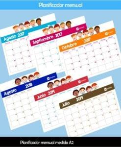 Planificador mensual por ciclo escolar