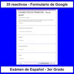 Examen interactivo en los formularios de Google para las clases virtuales