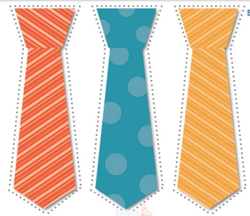 Portadas, bigotes y corbatas para imprimir 025