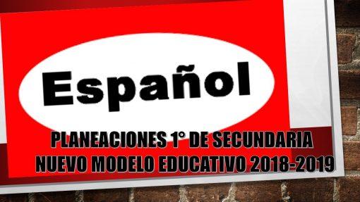 planeacion español secundaria