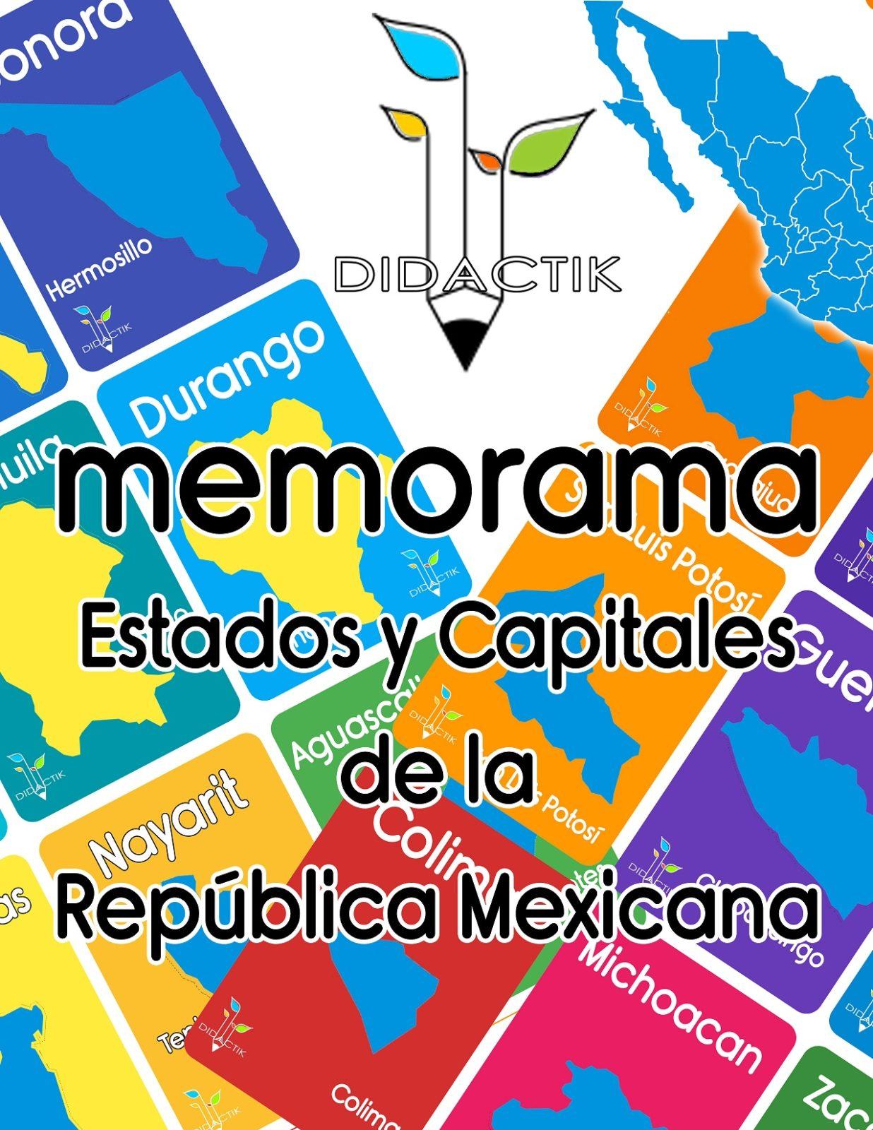 memorama estados de la republica mexicana