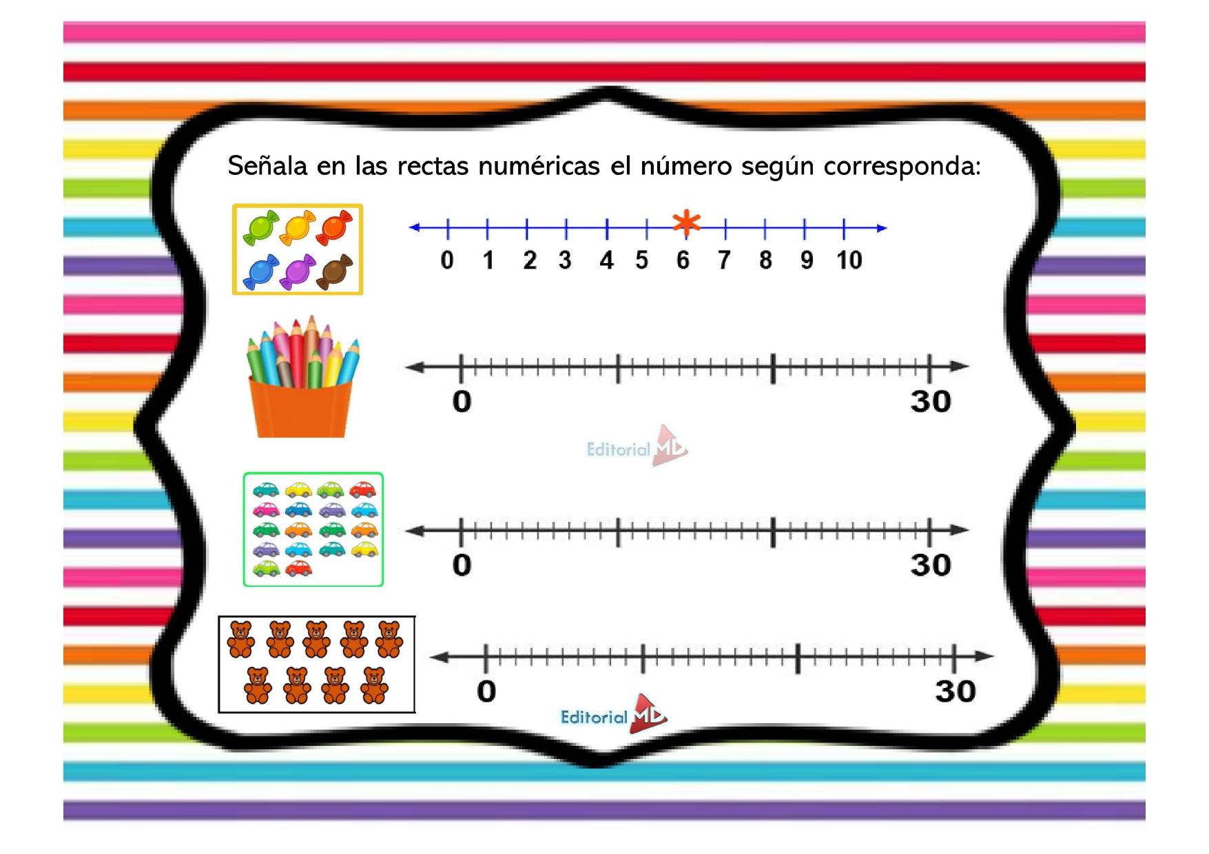 ejercicios de recta numérica para niños de primaria