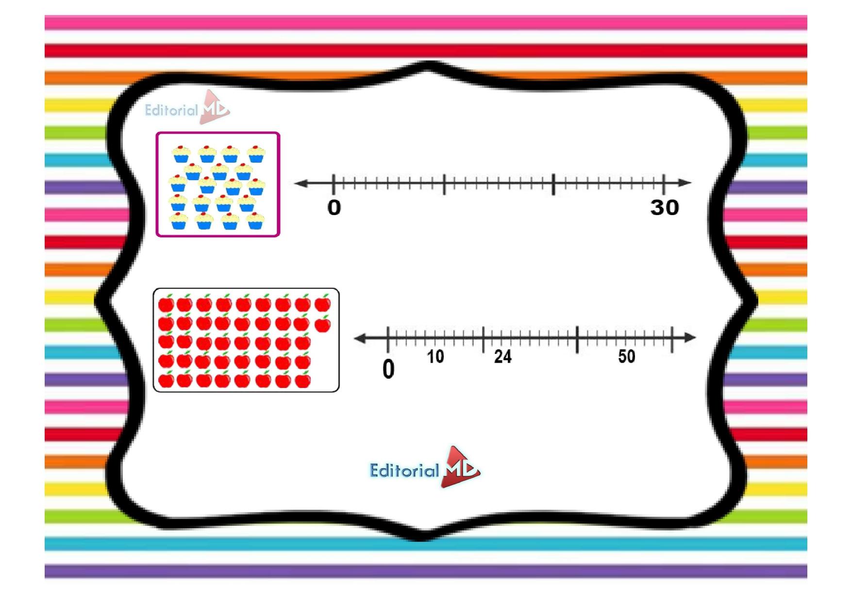 ejercicios de rectas numericas para niños