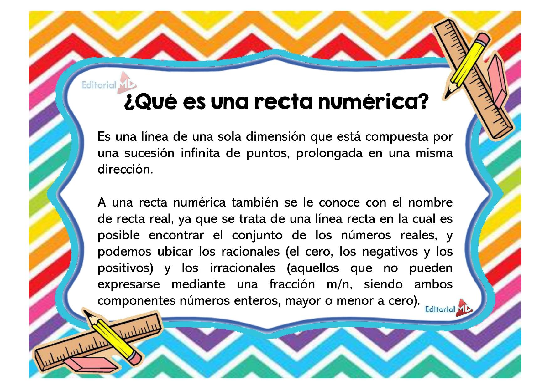 ¿Qué es una recta numérica?