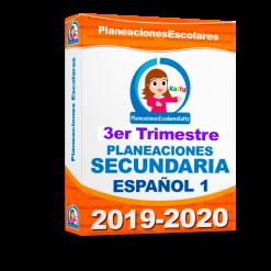 Planeación Español 1er grado 3er trimestre Secundaria Ciclo 2020-2021