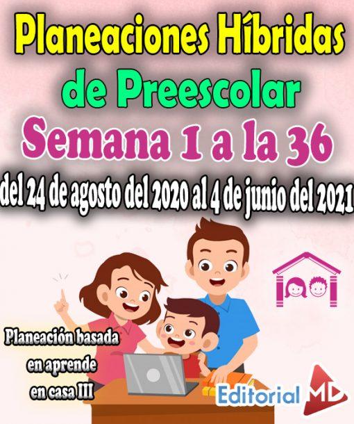 Semana 1 a la 36 Planeación de Preescolar Aprende en casa 3