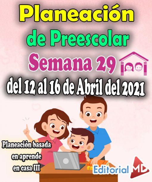 Semana 29 Planeación de Preescolar Aprende en casa 3