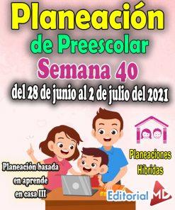 Semana 40 Planeación de Preescolar Hibridas