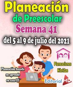 Semana 41 Planeación de Preescolar Hibridas