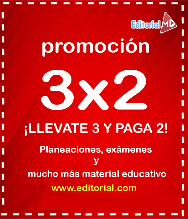 3 X 2 en los materiales educativos