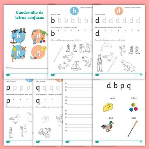 Cuadernillo: Letras Confusas p, b, d y q.