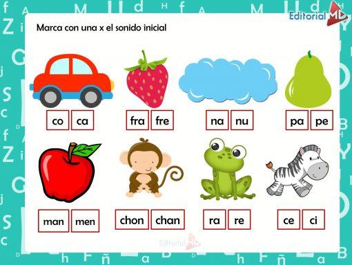 actividades de Identificación gráfica y sonora de silabas