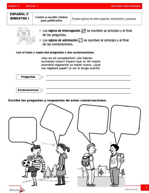 actividades de Tercer grado de primaria3