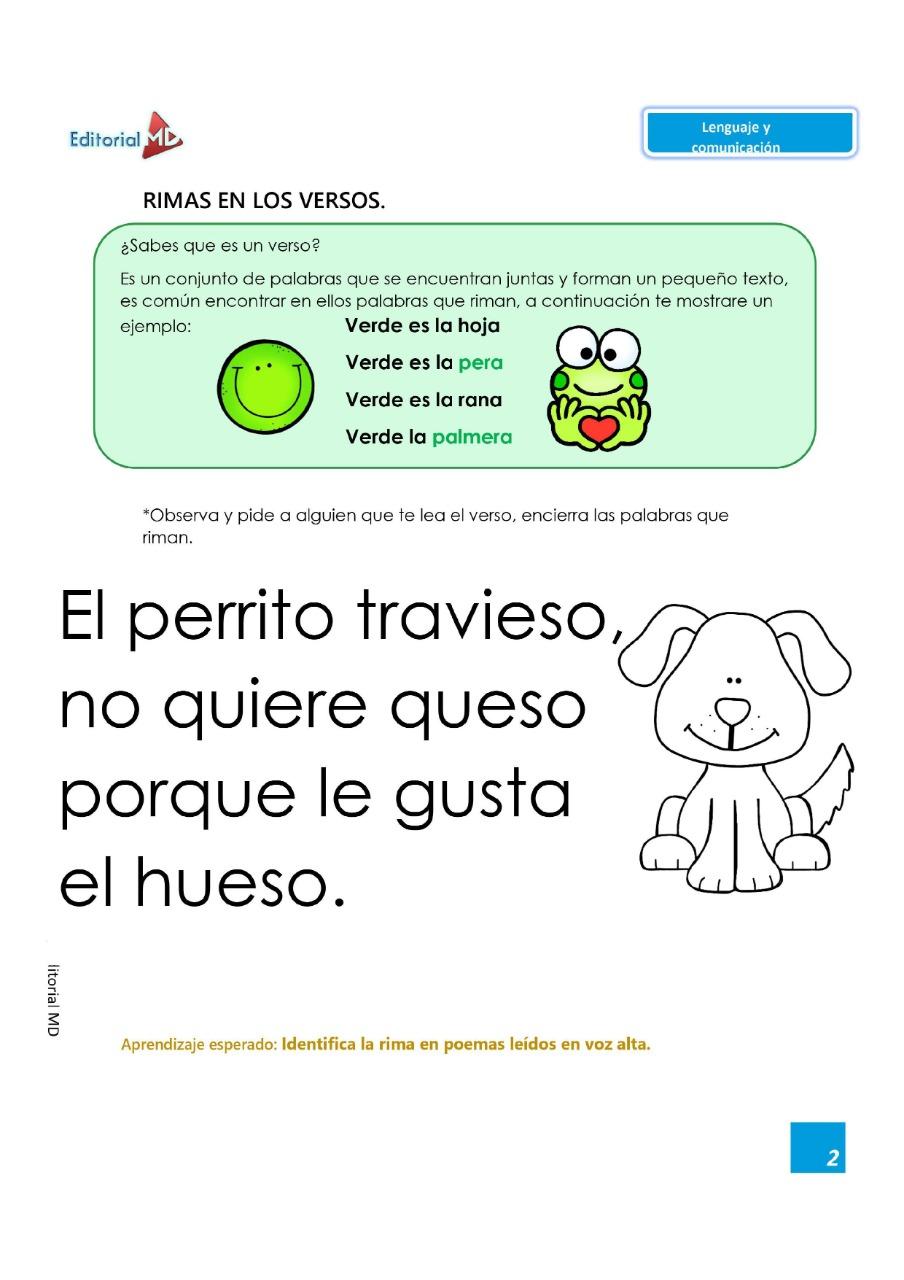 actividades lenguaje y comunicacion de educacion preescolar