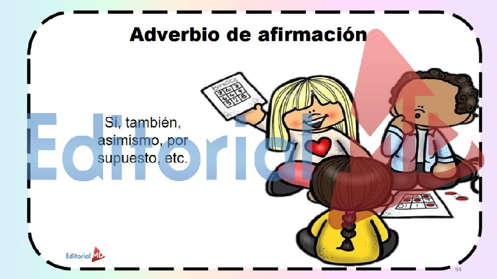 adveribio de afirmacion