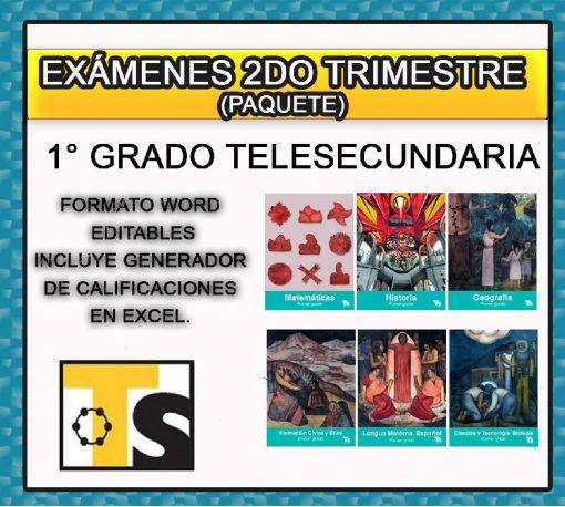 Exámenes 1° de Telesecundaria 2do Trimestre
