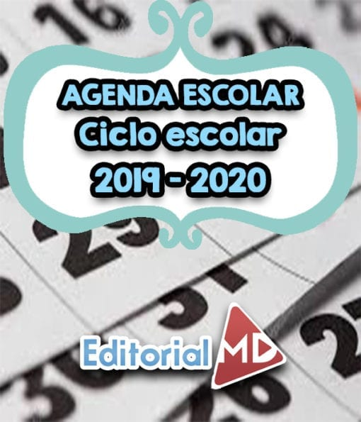 agenda escolar ciclo 2019-2020