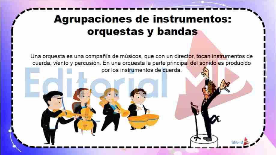 agrupacion de los instrumentos