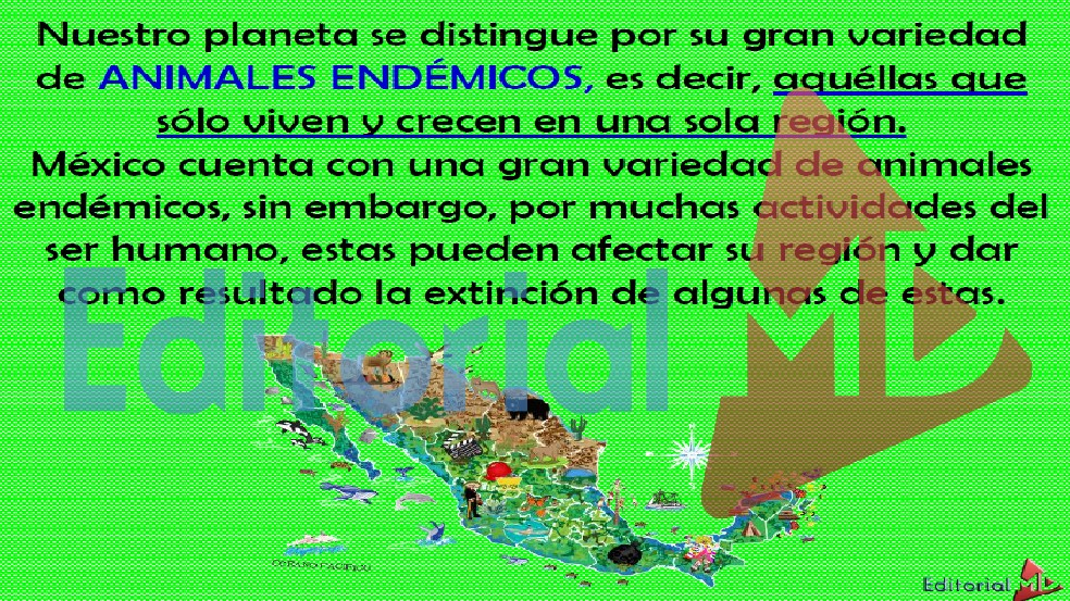 animales endemicos de mexico en peligro de extinción