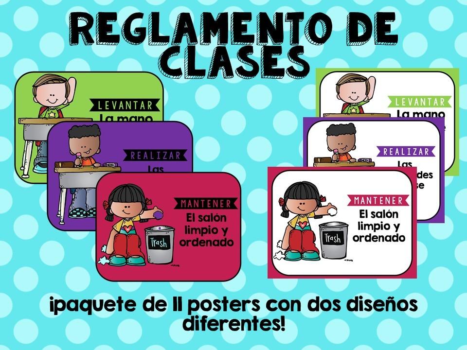 anuncio reglamento de clases