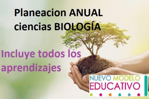 Planeacion Anual Ciencias BIOLOGÍA