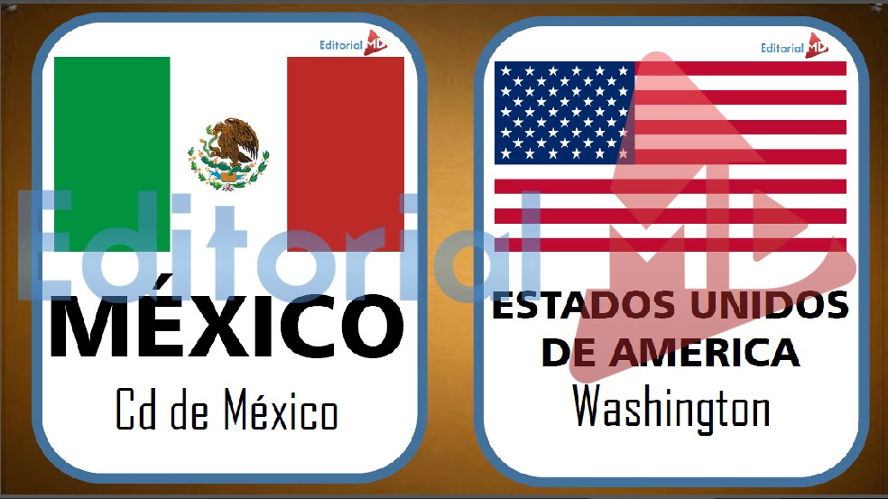 banderas mexioc y estados unidos