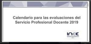 calendario de evaluaciones docentes del INEE