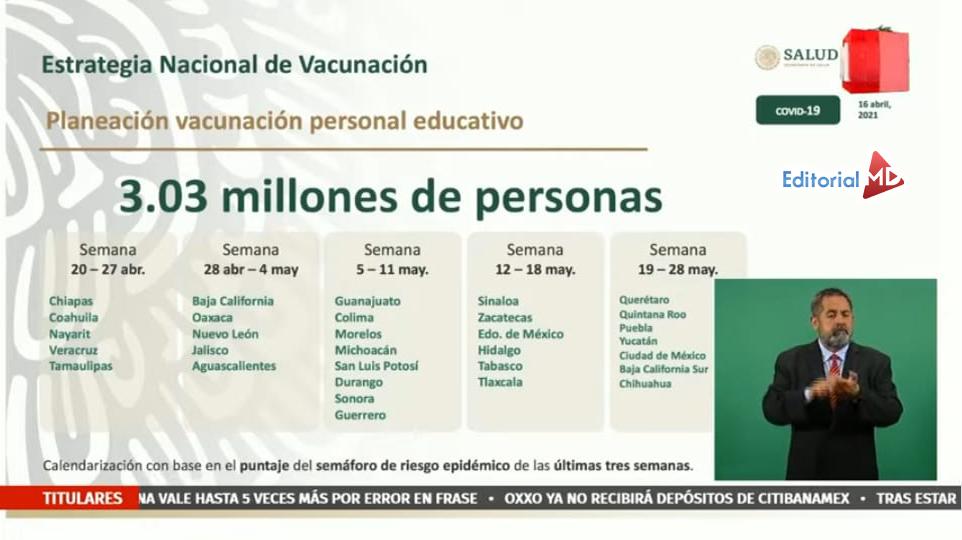 Plan de Vacunación Docentes anti covid