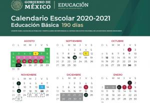 calendario escolar ciclo 2020-2021