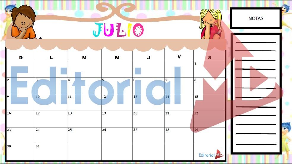 calendarios para imprimir