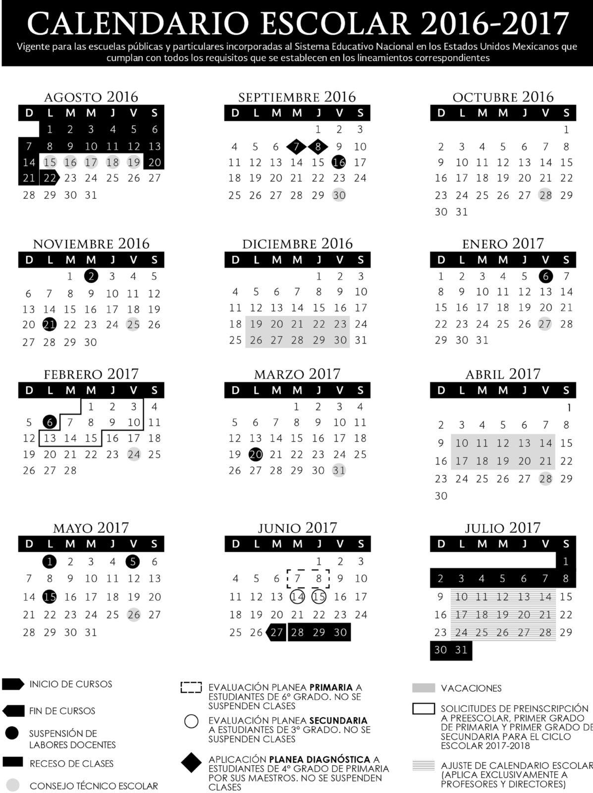 ... 185 dias tiene Como Fecha para el Fin de Curso el 27 de Junio de 2016