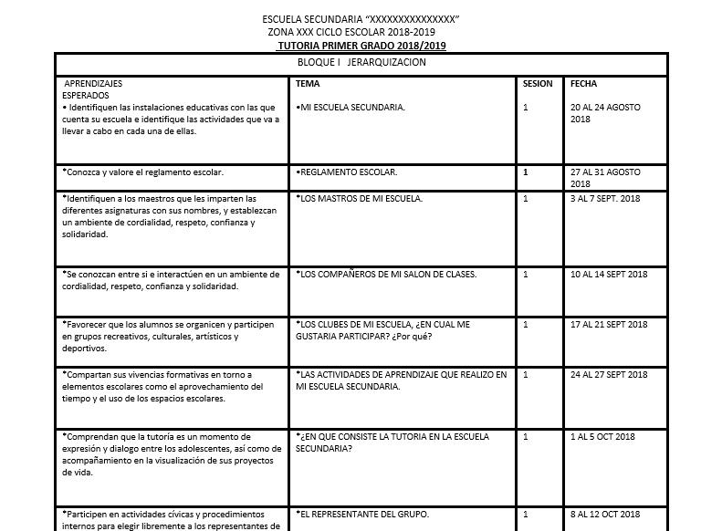 planeacion tutoria