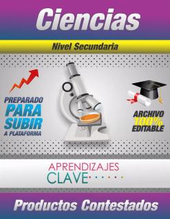 Productos Del Curso Aprendizajes Clave Ciencias Secundaria
